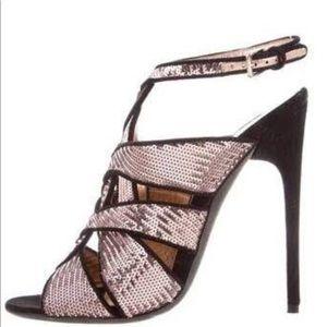 Tom ford sequin rose gold heels